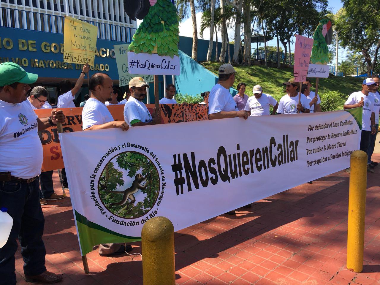 Gobierno de Ortega acosa a organización ambientalista.