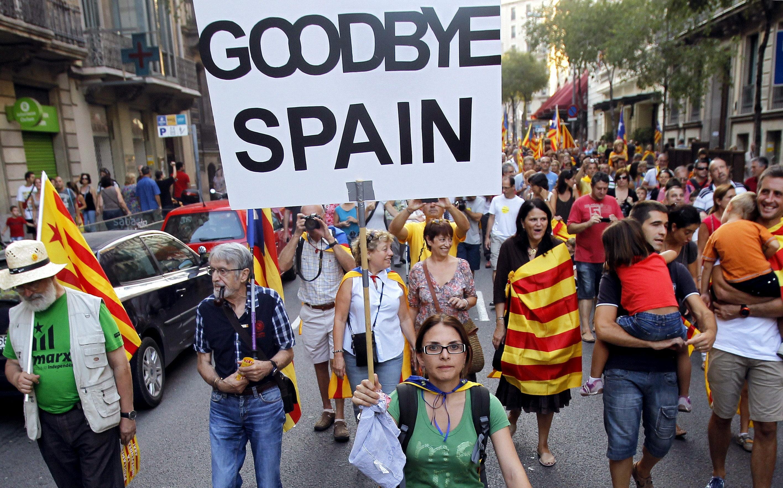 Miles de catalanes se manifiestan para reclamar independencia y pacto fiscal. Foto tomada del Diario Metropolitano
