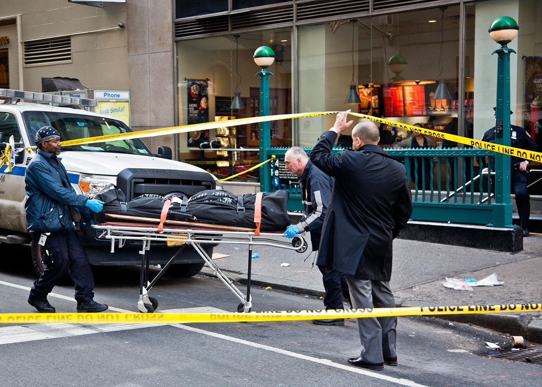 Varios heridos en tiroteo en Manhattan. Foto: Info7