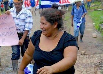 Francisca Ramírez, líder del movimiento campesino anticanal. Foto: Aracelly Hurtado