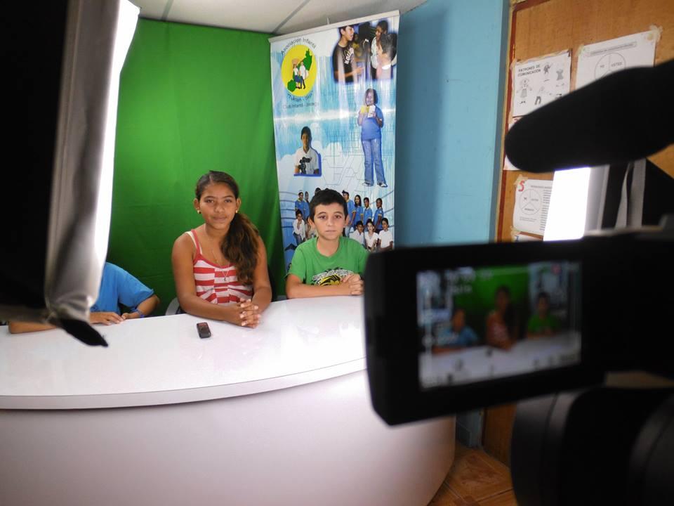 Pequeños gigantes de la comunicación de Jinotega. Foto: tomada de Club Infantil de Comunicadores
