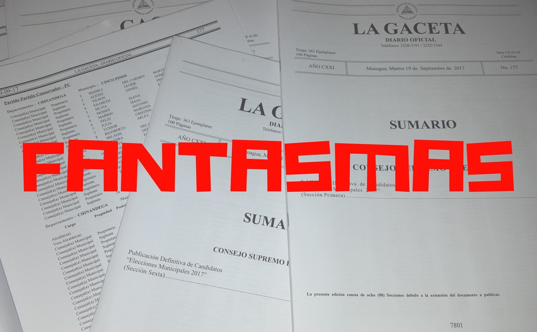 OEA informada sobre candidatos fantasmas