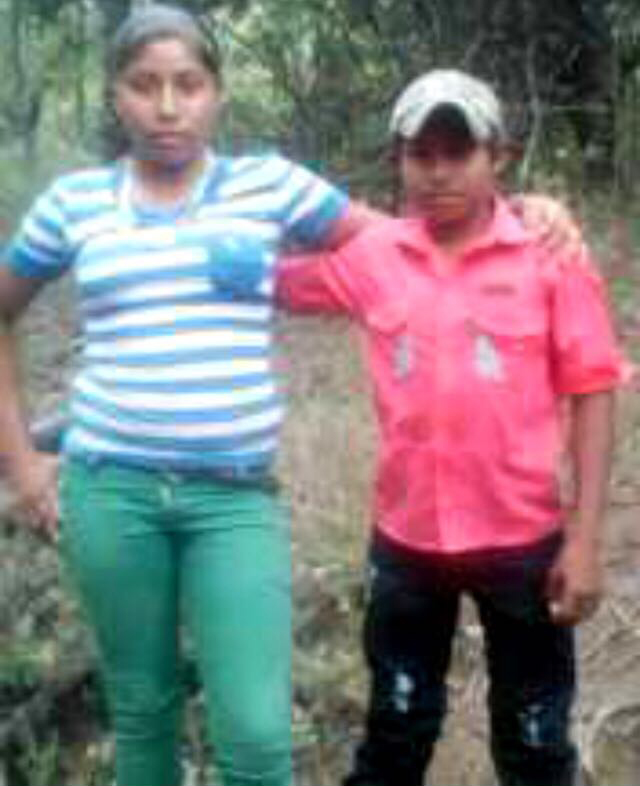 Yojeisel Pérez Valle, de 16 años, y Francisco Pérez, de 12 años; los dos adolescentes que fueron asesinados por el Ejército de Nicaragua.