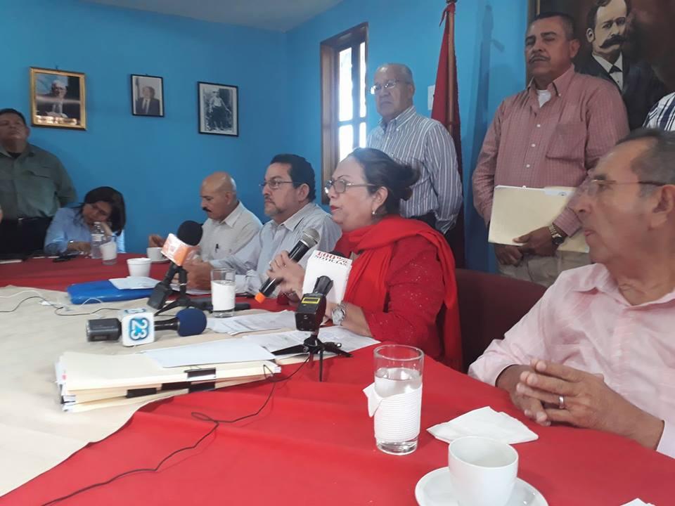 Partido Liberal Constitucionalista en conferencia de prensa