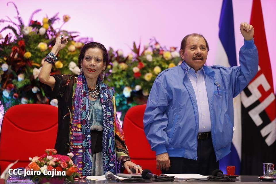 Daniel Ortega y Rosario Murillo. Foto: Tomada de la Presidencia  de Nicaragua