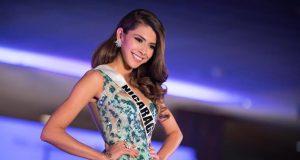 Nicaragua en la competencia preliminar del Miss Universo en la pasarela de traje de noche.