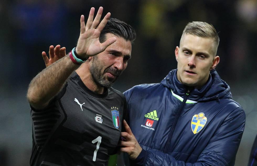 Italia sin mundial, llora Buffon. Foto tomada de internet