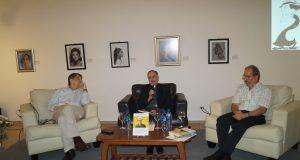 Monseñor Silvio Báez, el teólogo y educador José Argüello Lacayo y el escritor Sergio Ramírez Mercado. Fotografía: Artículo66