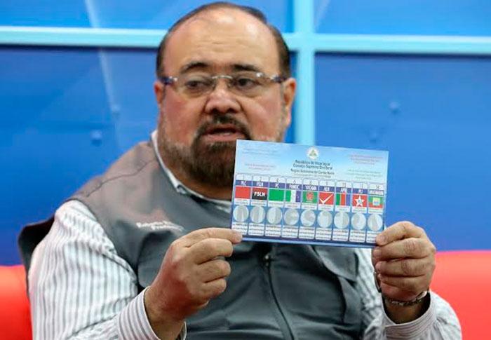 Roberto Rivas, presidente del Consejo Supremo Electoral (CSE). Foto: tomada de La Voz del Sandinismo.