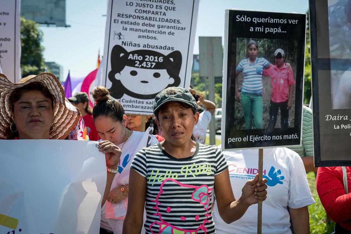Campesina Elea Valle denuncia desaparición de su hija de 13 años. Foto: Confidencial
