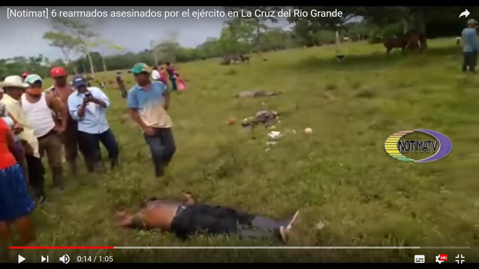 Exhumarán a rearmados masacrados en La Cruz de Río Grande