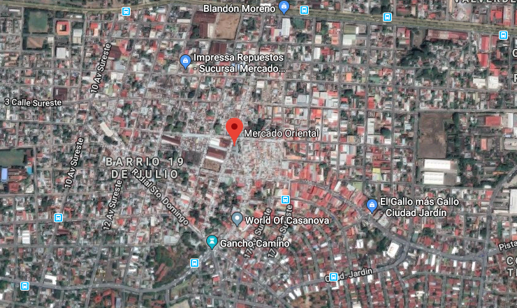 Incendio en el mercado Oriental. El mercado más grande de Centroamérica.
