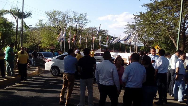Protesta en la Unan-Managua. Foto: A. Navarro / Artículo 66