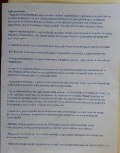 Documento presentado por la Asociación de Vecinos