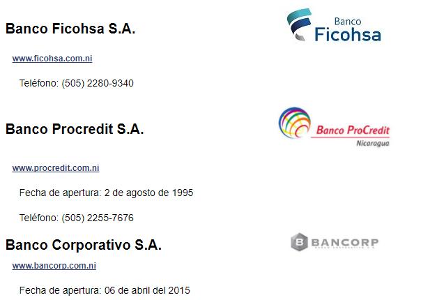 El Bancorp, continua en la lista de asociados a Asobanp, junto a los 6 principales bancos de que operan en Nicaragua. Captura sitio web/Artículo66