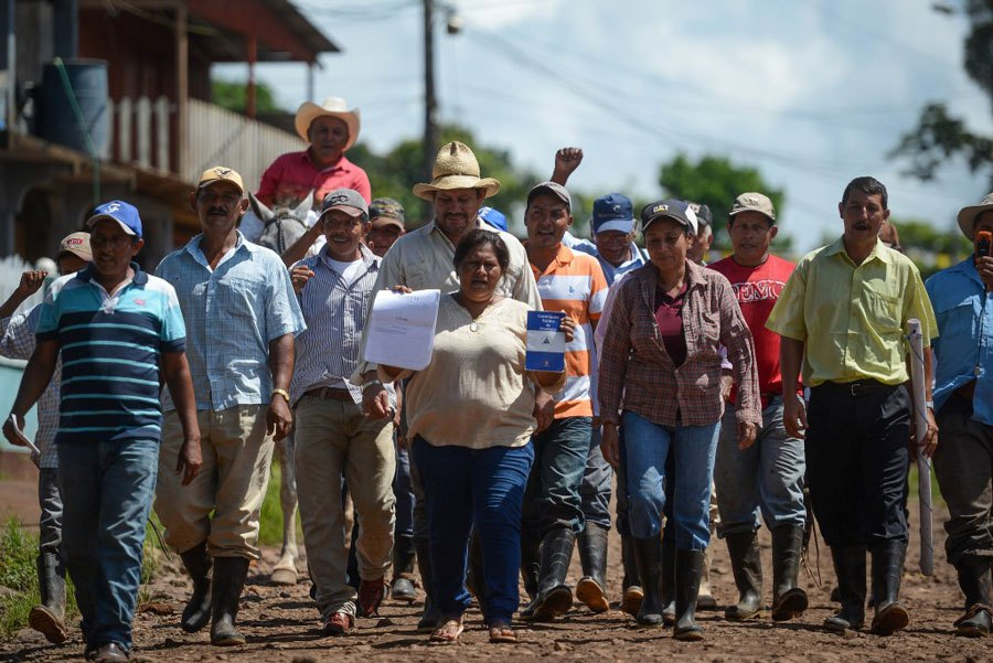 Desde 2013, los campesinos han liderado más de 100 marchas para demandar la soberanía de Nicaragua.