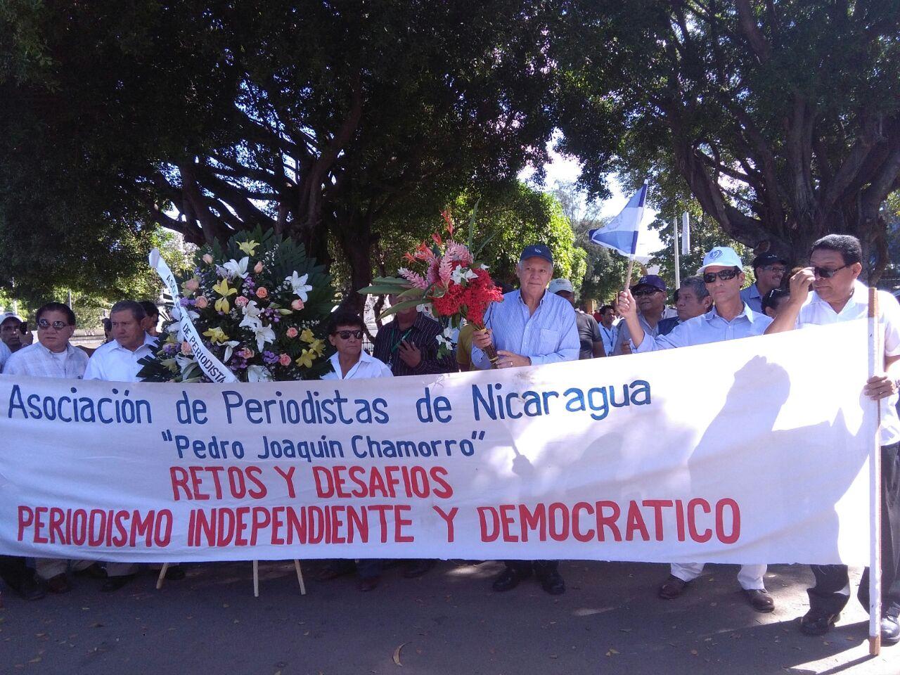 Homenaje a Pedro Joaquín Chamorro asesinado por la dictadura somocista hace 40 años. Foto: A. Navarro / Artículo 66.