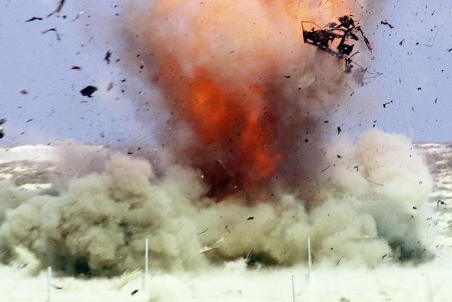La nueva mina antipersonal que usa la Policía Nacional y el nuevo lisiado de una guerra de pudrición. Foto ilustrativa