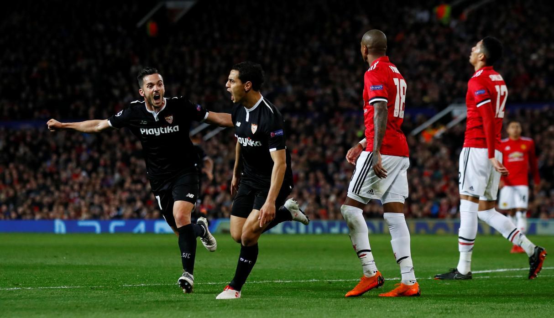 Wissam Ben Yedder se convirtió en el verdugo del United, tras marcar dos goles y llevar a la victoria al Sevilla. Foto: Diario As