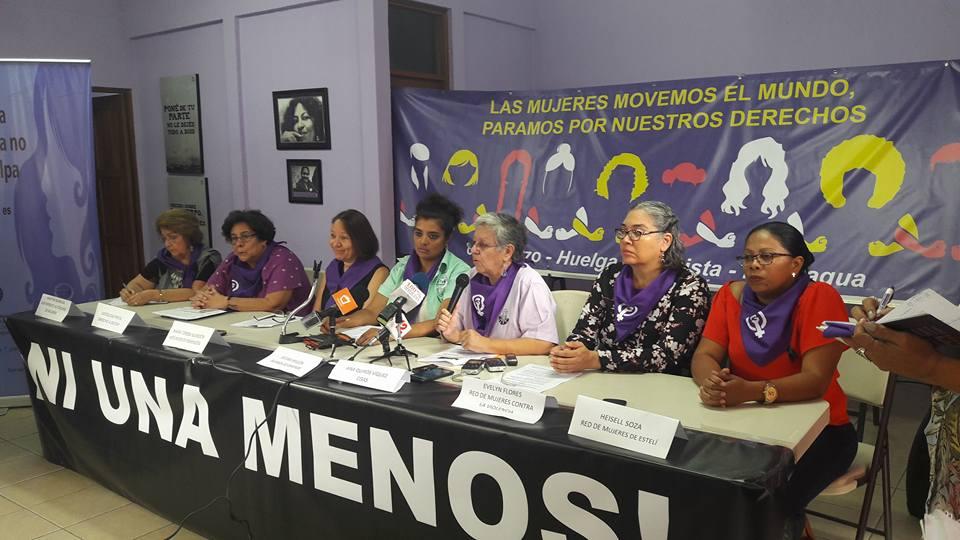 Movimientos de mujeres declararon duelo nacional por ocho días. Foto: MAM