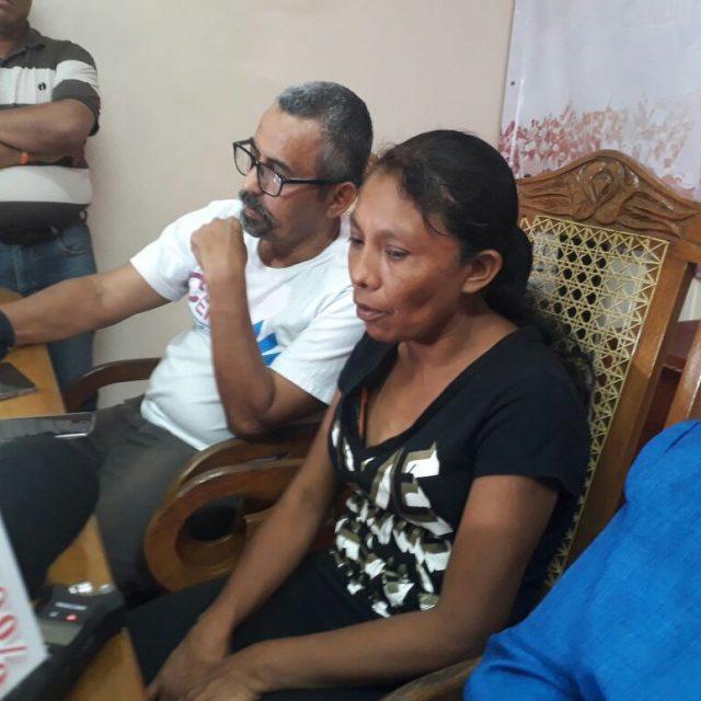 Elea Valle en enero de este año, tras dos meses de silencio del régimen de Daniel Ortega ante la masacre de La Cruz de Río Grande. Foto: Artículo66