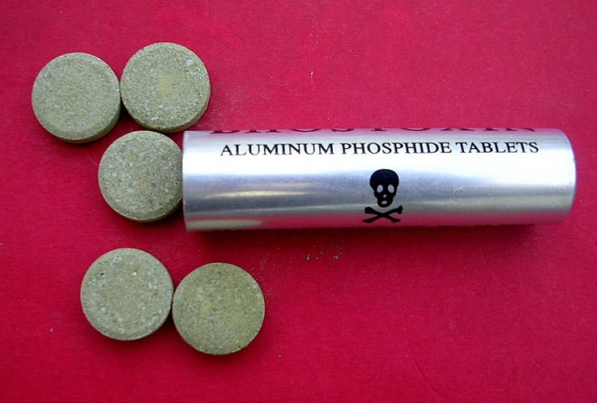 """Pastillas de fosfuro de aluminio, conocidas como """"pastillas de curar frijoles"""". Foto: Internet"""