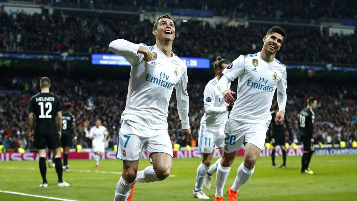 Cristiano Ronaldo y el Madrid buscarán salir con el boleto a cuartos de final del Parque de los Príncipes. Foto: AS.Com
