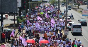 El 8M se toma Managua para exigir justicia por las mujeres asesinadas. Fotografía: Artículo66