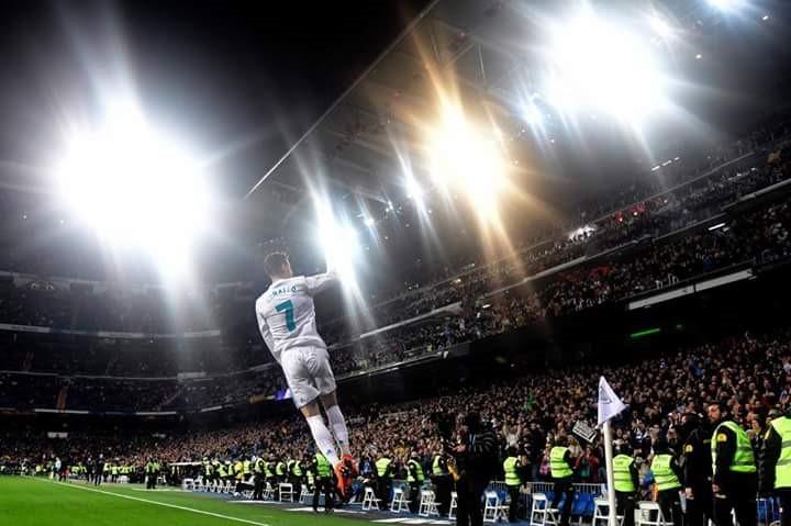 Cristiano Ronaldo marcó cuatro goles ante el Girona y sigue a la caza de Messi por el pichichi de la Liga. Foto/ Diario Marca