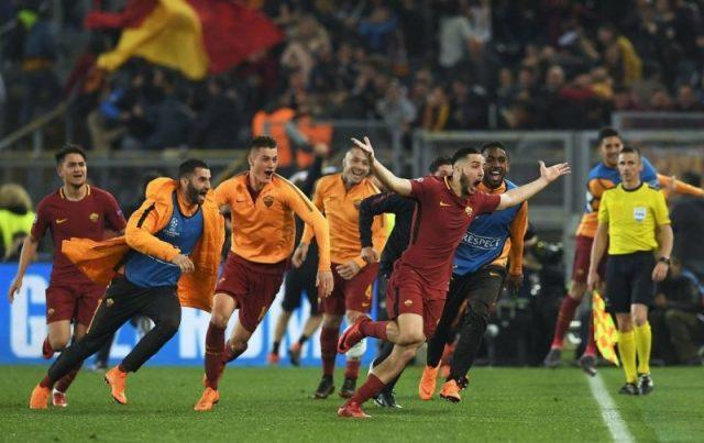 """La Roma logró una remontada milagrosa ante el """"Todopoderoso"""" Barcelona de Messi. Foto: Diario As"""