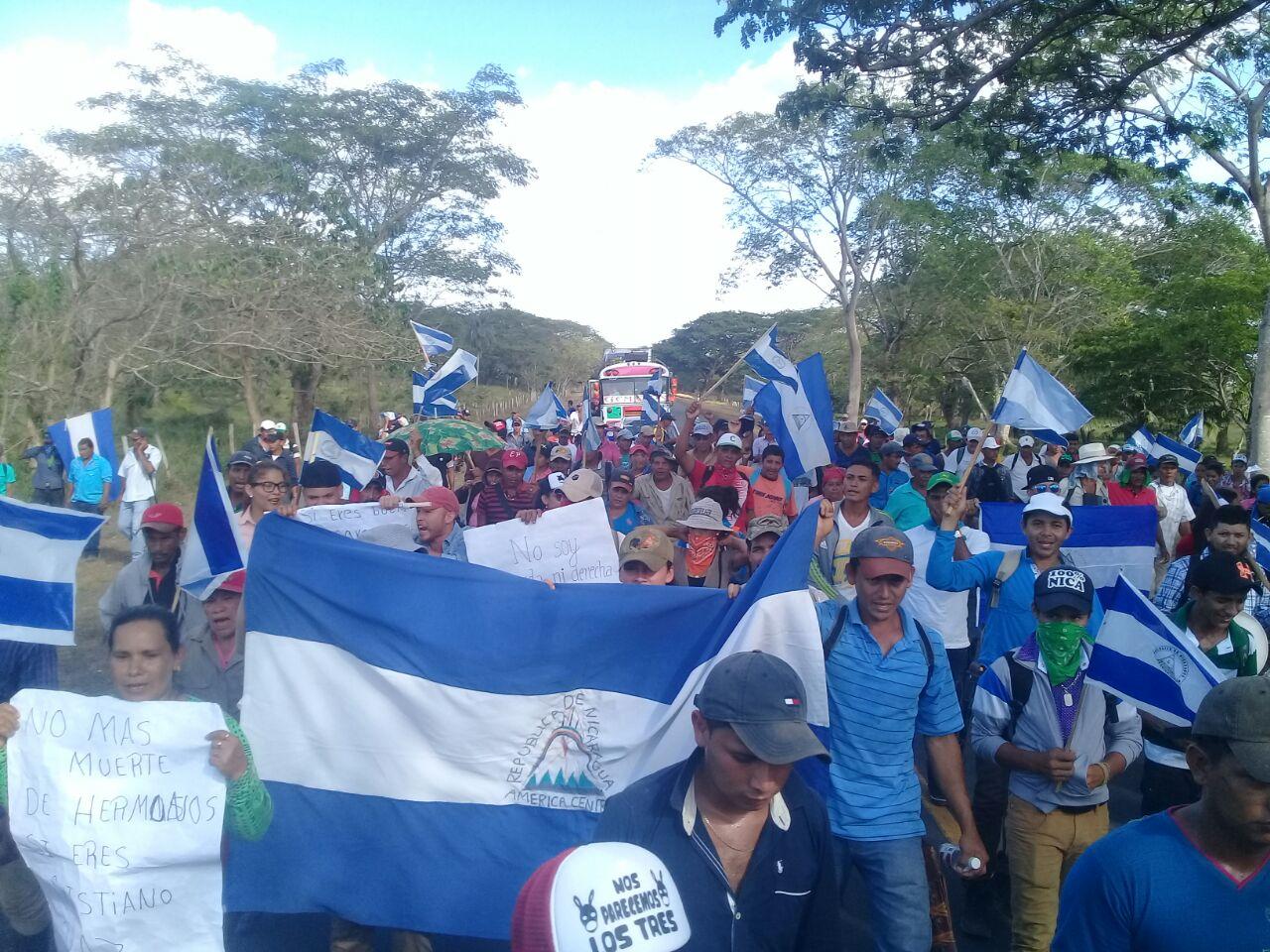 Campesinos de El Tule, Almendro y Nueva Guinea se unen a las protestas. Foto: Cortesía