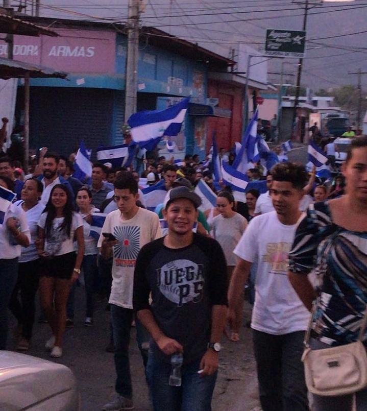 Nueva Guinea se unieron a las marchas por la paz y la justicia. Foto: Cortesía