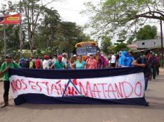 Campesinos de Nueva Guinea se toman las calles en protesta contra el régimen de Daniel Ortega. Foto: Cortesía