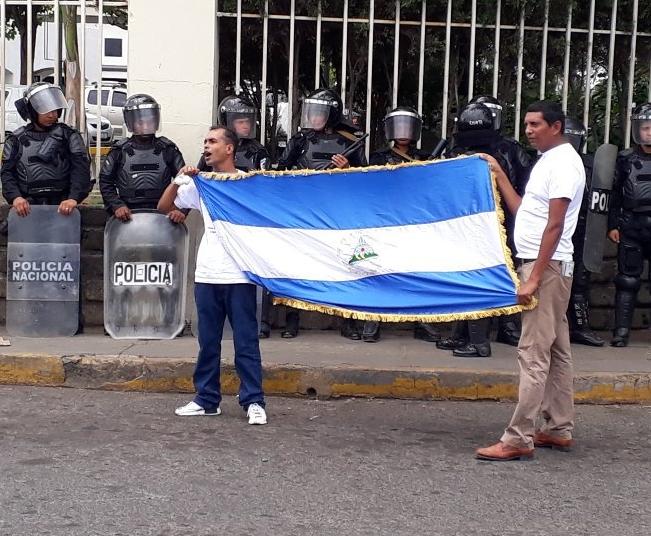 Protesta fue liderada por el FUD, fue visible la presencia de un connotado infiltrado orteguista