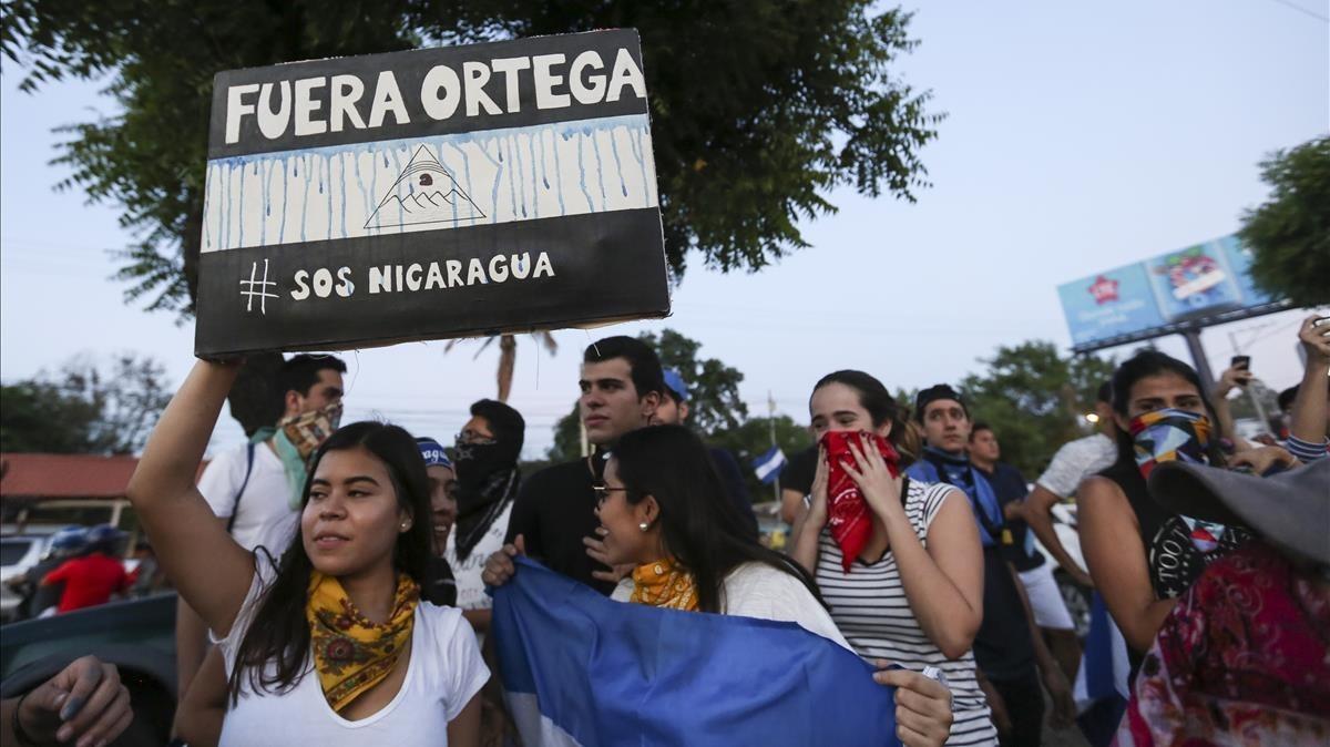 19 de abril, el movimiento que tiene en jaque a Daniel Ortega. AP Photo Alfredo Zuniga