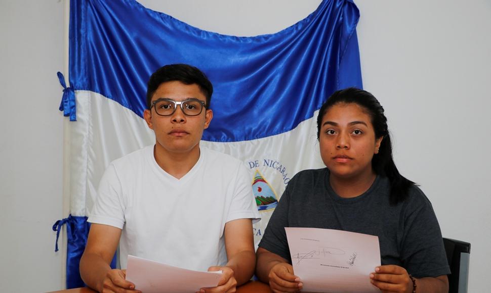 Jóvenes del Movimiento Universitario 19 de abril anuncian ultimátum para Daniel Ortega. Foto: A. Sánchez/END