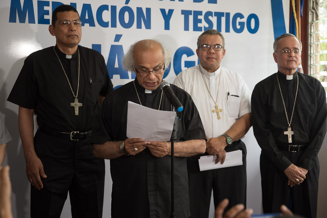 Comisión anuncian la reanudación del Diálogo Nacional. Foto: Confidencial