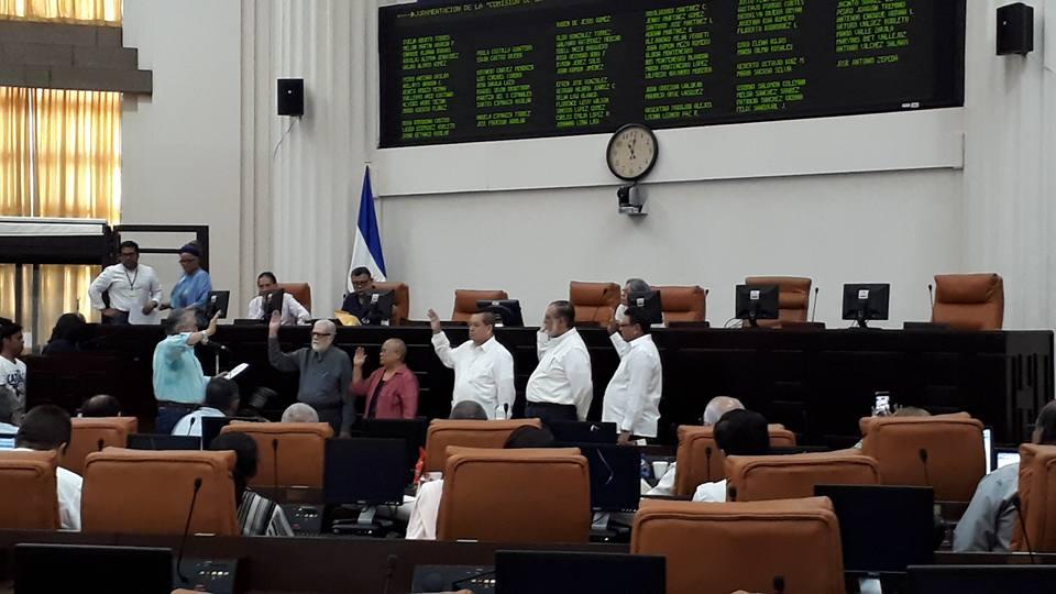 """Esta es la comisión """"de la verdad"""" designada por el régimen de Daniel Ortega. Foto: Oscar Navarrete"""
