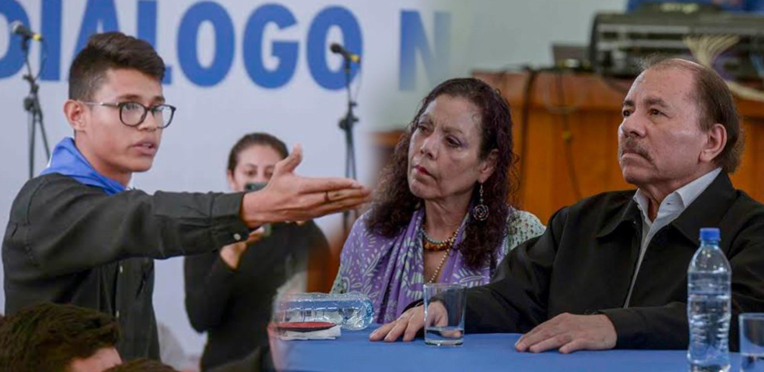 Lesther Alemán expone exigencias del pueblo nicaragüense. Fotos: La Prensa
