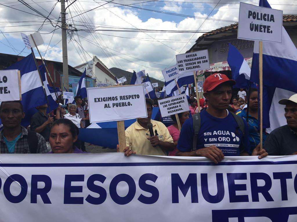 Protestas en Nicaragua. Foto: Cortesía