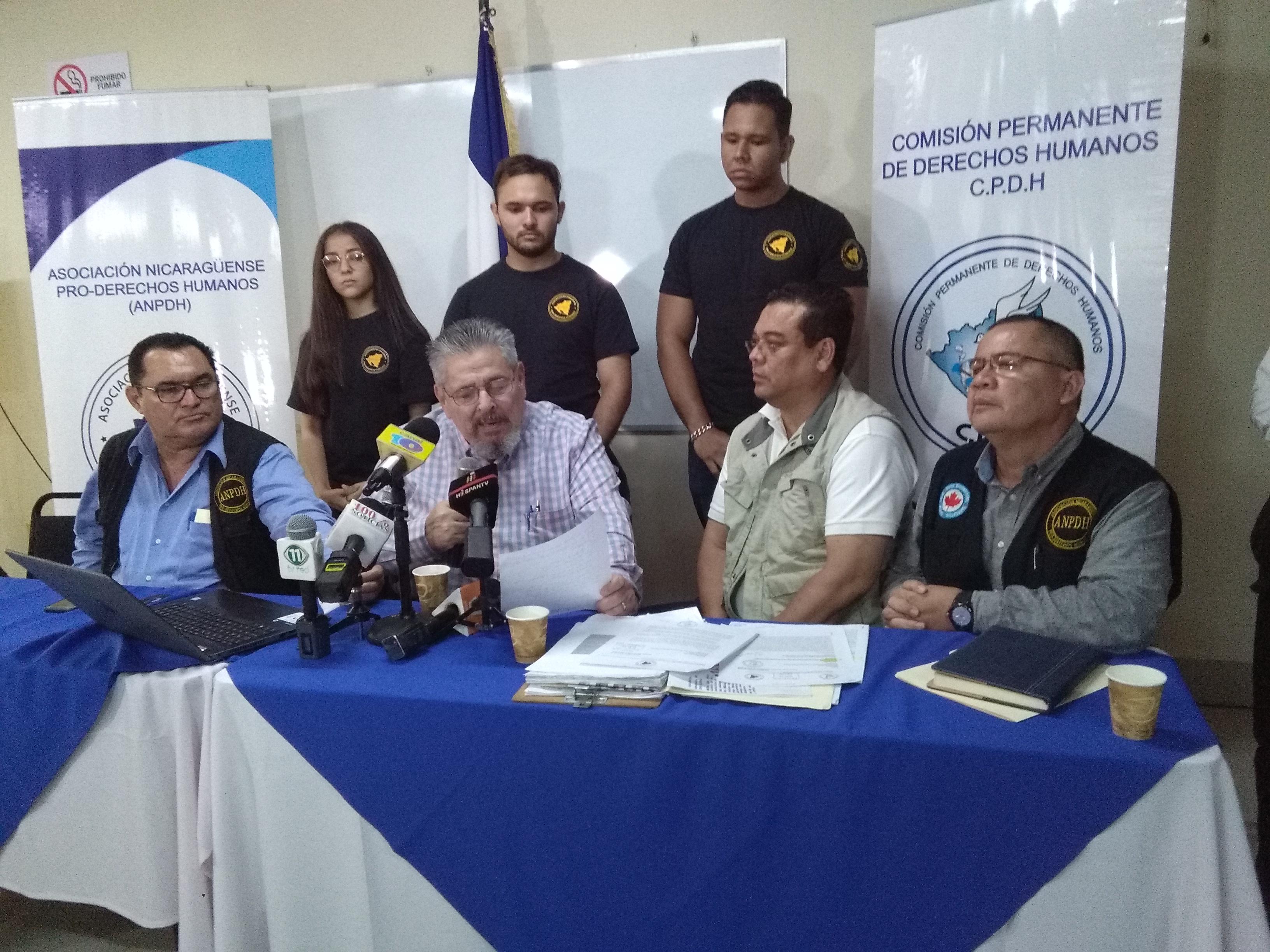 Informe sobre violaciones a los derechos humanos en Nicaragua de la ANPDH y CPDH. Foto: A. Cruz
