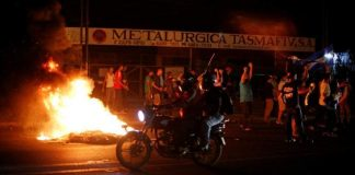 Fuerzas de choque orteguistas disparan contra jóvenes que regresaban de protestar en Ciudad Sandino. Foto ilustrativa, tomada de EconomíaHoy.mx