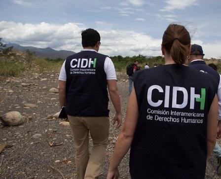 Comisión Interamericana de Derechos Humanos en una visita a Colombia. Foto:COLPRENSA