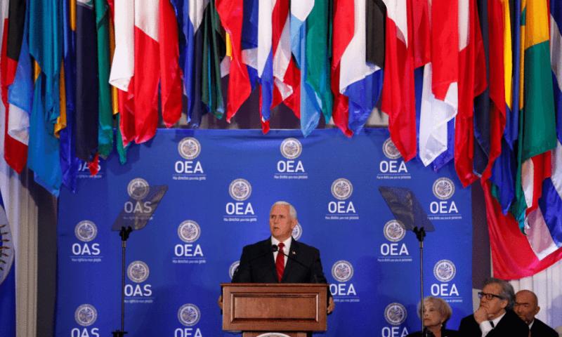 Mike Pence, vicepresidente de Estados Unidos. Foto: Misión Verdad