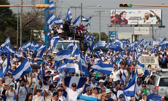 Movimiento de estudiantes continúa organizándose en toda Nicaragua. Foto: Europa Press