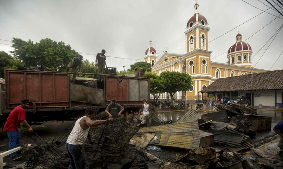 Granada después del ataque orteguista. Foto: El Nuevo Diario