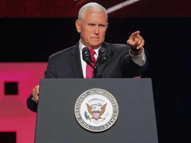 Vicepresidente de los Estados Unidos, Mike Pence, continúa demandando al Estado de Nicaragua el cese de la represión. Foto: tomada de Excelsior/ AP