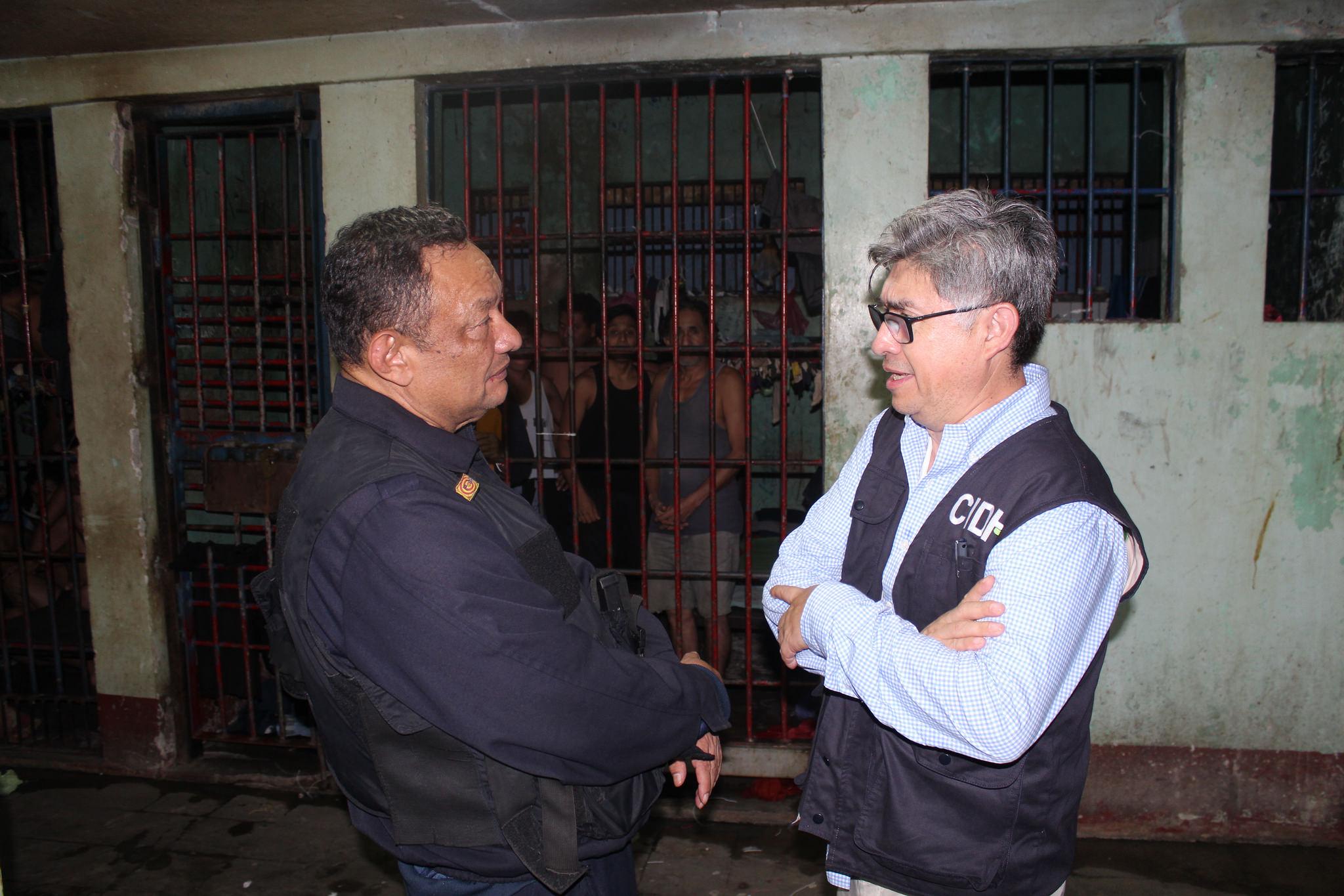 Comsión Interamericana durante su visita de trabajo en Nicaragua. Foto: toma de CIDH