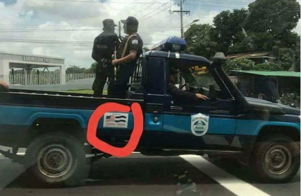Policía orteguista niega uso de vehículos donados por EMBUSA en represión y transporte de paramilitares