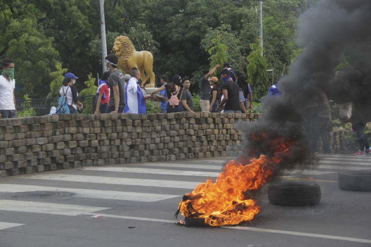 Tranques en la entrada de León. Foto: La Prensa